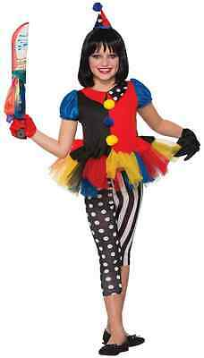 Lil' Girlie Evil Clown Girl Circus Killer Fancy Dress Up Halloween Child Costume