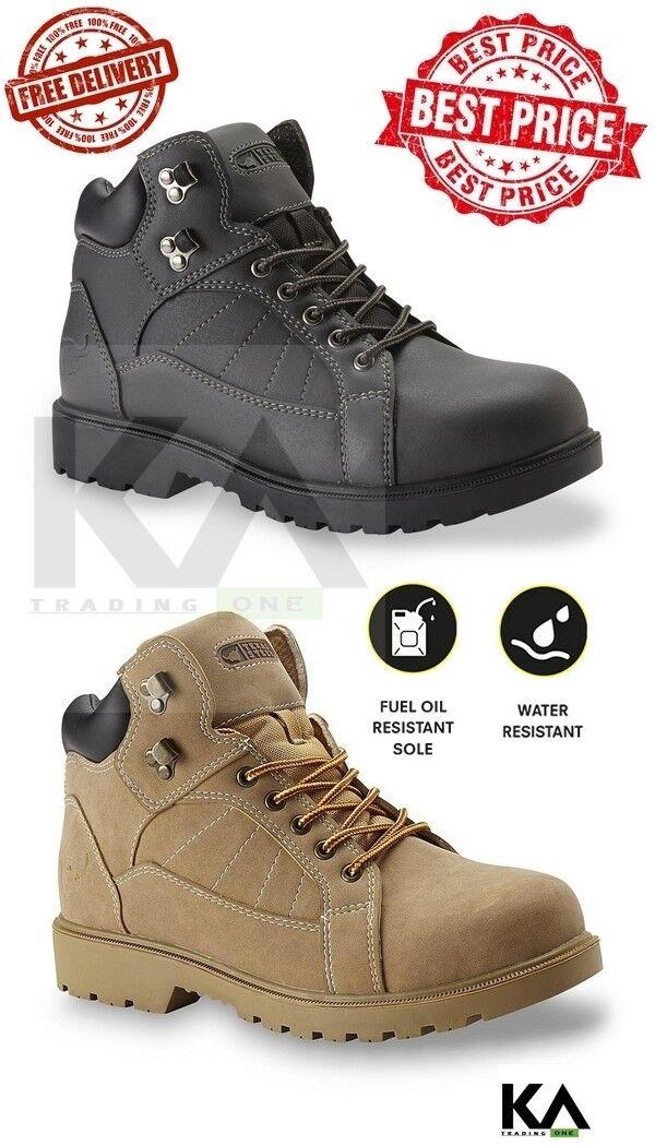 Soft Toe Work Boots Men's Shoes Safe Slip Resistant Comforta