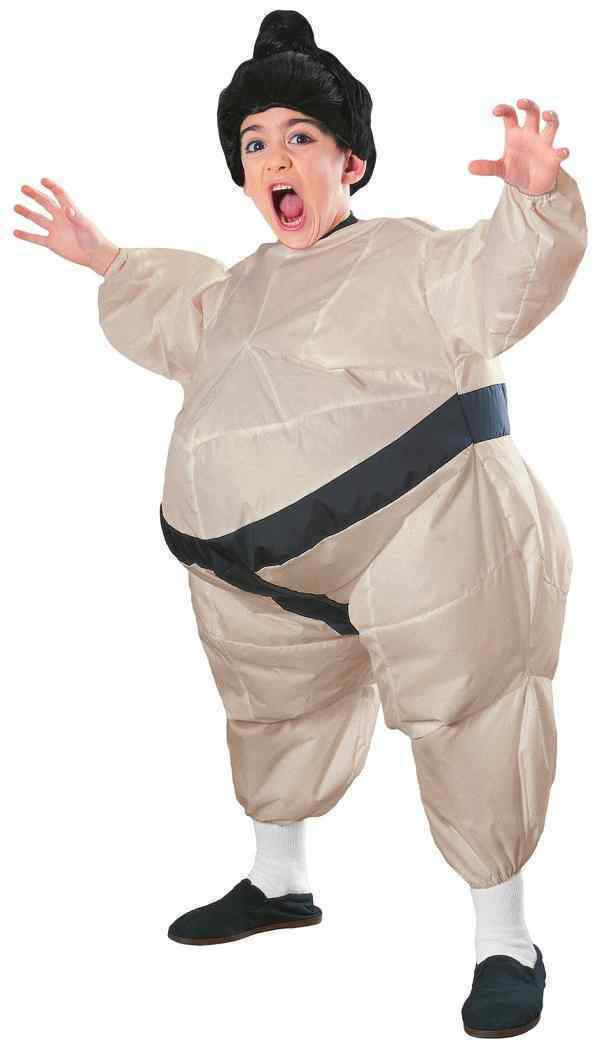 Inflatable Sumo Wrestler Funny Halloween Costume Kids Boys Girls Child Blow Up