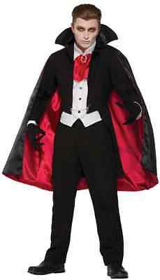 The Count Vampire Dracula Classic Monster Fancy Dress Halloween Adult Costume - Count Dracula Costumes