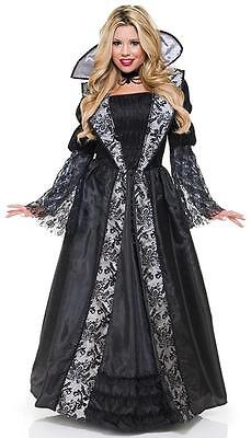 Vampire Dress Up (Vampire Countess Gothic Queen Fancy Dress Up Halloween Deluxe Adult)