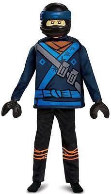 Jay Deluxe Lego Ninjago Movie Blue Ninja Fancy Dress Up Halloween Child Costume - Blue Jay Halloween Costume