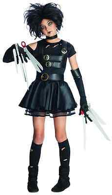 Miss Scissorhands Edward Tim Burton Fancy Dress Up Halloween Tween Teen - Burton Halloween Costume