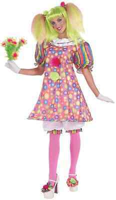 Tickles the Clown Pink Circus Sweetie Fancy Dress Up Halloween Adult Costume