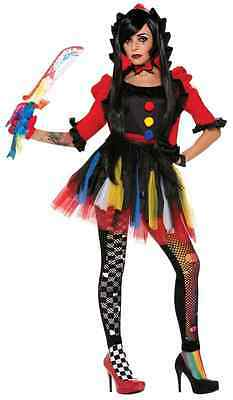 Twisted Clowness Attraction Clown Circus Fancy Dress Up Halloween Adult Costume