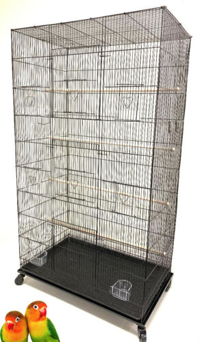 "55"" Extra Large Flight Parakeet Multiple Canaries Finches Glider Bird Breed Cage"