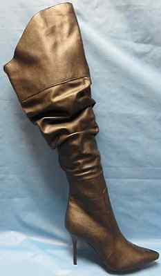 Rampage Boots Black Thigh High Fancy Dress Up Halloween Adult Costume Accessory - Thigh High Boots Halloween Costumes