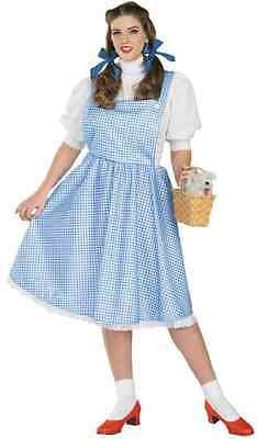 Dorothy Wizard of Oz Country Girl Fancy Dress Halloween Plus Size Adult Costume](Country Girl Halloween Costumes)