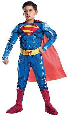 Superman Ultimate Batman vs Superhero Fancy Dress Halloween Deluxe Child Costume