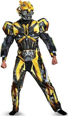 Bumblebee Transformers Last Knight Fancy Dress Up Halloween Deluxe Adult Costume](Transformer Costume Adult)