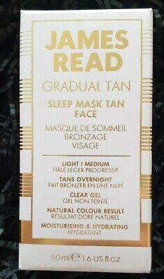 BNIB James Read Gradual Tan Light Medium Sleep Mask Face 50ml Natural Buildable