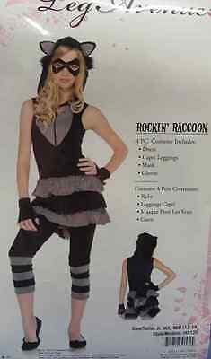 Rockin' Raccoon Girl Forest Animal Fancy Dress Up Halloween Teen Adult Costume