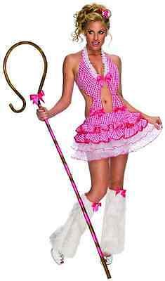 Sexy Shepherdess Playboy Little Bo Peep Pink Fancy Dress Halloween Adult Costume (Little Bo Peep Halloween)
