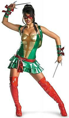 Raphael Sassy TMNT Teenage Mutant Ninja Turtles Halloween Sexy Adult Costume - Sassy Ninja Turtle Costume