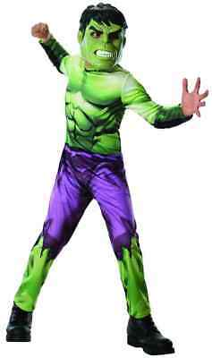 Hulk Marvel Avengers Assemble Superhero Fancy Dress Up Halloween Child Costume