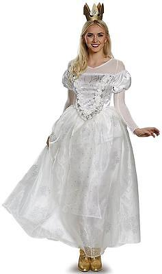 White Queen Alice Through Looking Glass Fancy Dress Up Halloween Child Costume
