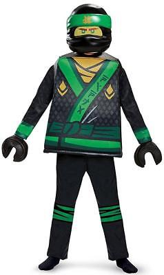 Lloyd Deluxe Lego Ninjago Movie Green Ninja Fancy Dress Halloween Child Costume (Green Ninja Ninjago Kostüm)