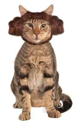 Princess Leia Cat Hood Star Wars Fancy Dress Halloween Pet Dog Costume - Princess Leia Cat Costume