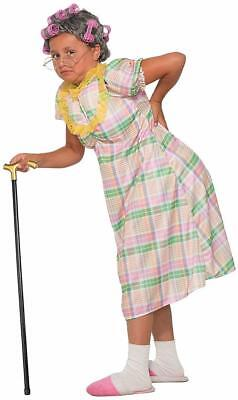 Aunt Gertie Old Woman Granny Plaid Funny Fancy Dress Up Halloween Child Costume](Funny Dress Up)