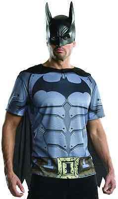 Batman Top Mask Arkham City Superhero Fancy Dress Up Halloween Adult Costume