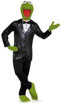 Kermit Deluxe Muppets Disney Tuxedo Fancy Dress Up Halloween Adult Costume