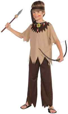 Native American Brave Indian Chief Fancy Dress Up Halloween Child Costume