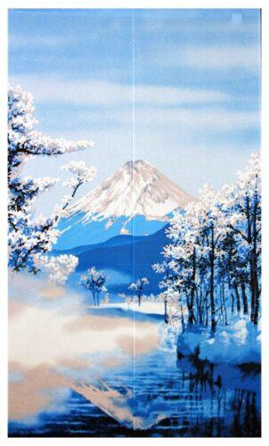JAPANESE Noren Curtain Mt, Fuji Winter Fuyufuji Made in JAPAN 85 x 150cm