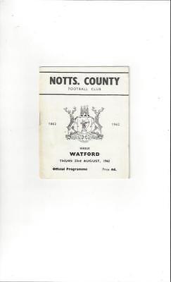 Notts County v Watford 1962/63 Football Programme