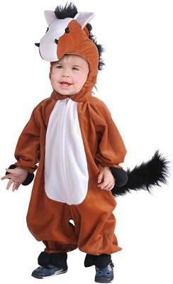 Plush Horse Farm Animal Brown Western Fancy Dress Up Halloween Child Costume