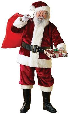 Crimson Regency Santa Claus Christmas Holiday Fancy Dress Deluxe Adult Costume