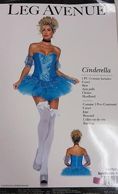 Blue Fairy Costumes (Cinderella Princess Blue Fairy Tale Fancy Dress Up Halloween Sexy Adult)