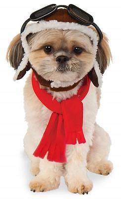 Aviator Hat Scarf Set Pilot Fancy Dress Halloween Pet Dog Cat Costume Accessory