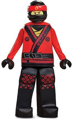 Kai Prestige Lego Ninjago Movie Ninja Fancy Dress Halloween Deluxe Child Costume](Ninjago Halloween Costumes Kai)