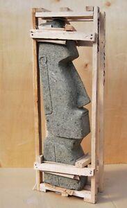 Moai Osterinsel Figur aus grünem Lavastein 100cm Maori Lounge Lavagestein