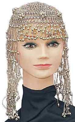 Cleopatra Headpiece Gold Bead Egyptian Fancy Dress Halloween Costume Accessory - Egyptian Headpiece Halloween