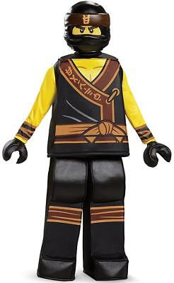 Cole Prestige Lego Ninjago Movie Fancy Dress Up Halloween Deluxe Child - Cole Ninjago Kostüm