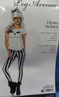 Hipster Skeleton Girl Skull Bones Nerd Fancy Dress Halloween Sexy Adult Costume - Girl Hipster Halloween Costume