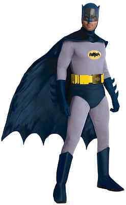 Batman 1966 Classic TV Series Superhero Gray Grey Halloween Deluxe Adult Costume - 1966 Batman Costume