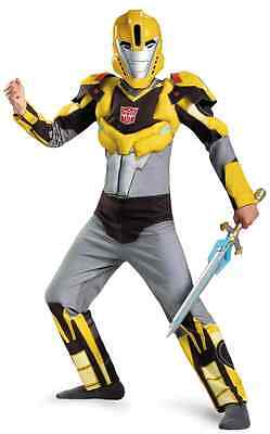 Transformer Dress Up (Bumblebee Animated Transformers Fancy Dress Up Halloween Deluxe Child Costume)