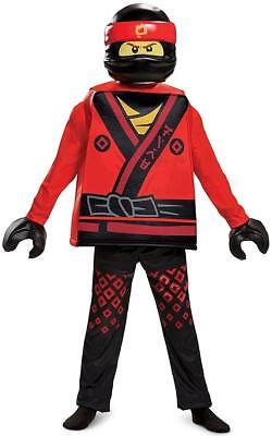 Kai Deluxe Lego Ninjago Movie Red Ninja Fancy Dress Up Halloween Child Costume](Ninjago Halloween Costumes Kai)