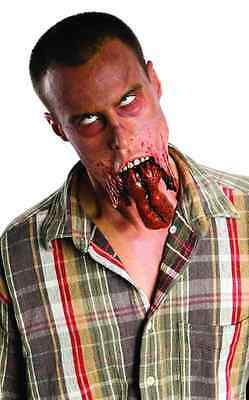 Split Jaw Walking Dead Zombie Makeup Halloween Costume Makeup Latex Prosthetic (Walking Dead Makeup)