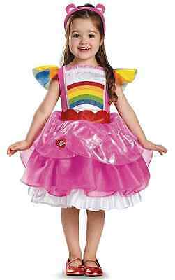 Cheer Bear Deluxe Tutu Care Bears Fancy Dress Up Halloween Toddler Child Costume