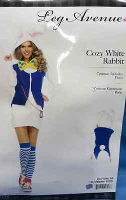 Cozy White Rabbit Animal Alice Wonderland Fancy Dress Halloween Adult Costume (White Rabbit Halloween Costume Alice Wonderland)