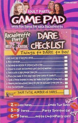 Outta Control Bachelorette Party Ladies Night Out Drinking Dare Checklist Game](Bachelorette Party Checklist)