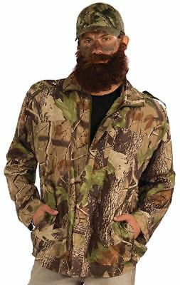 Duck Hunter Costume Halloween (Camo Jacket Hunting Man Duck Hunter Fancy Dress Up Halloween Adult)