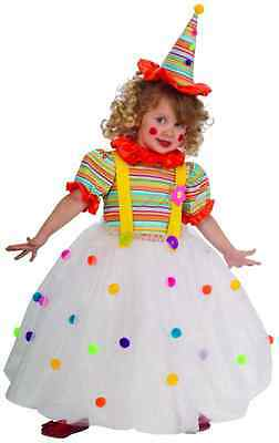 Toddler Clown Costume Girl (Candy Clown Circus Carnival Girl Fancy Dress Up Halloween Toddler Child)