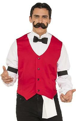 Bartender Saloon Wild West Cowboy Fancy Dress Up Halloween Adult - Male Bartender Halloween Costumes