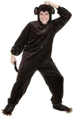 Monkey Brown Jungle Safari Animal Ape Chimp Fancy Dress Halloween Adult Costume](Safari Costume Male)