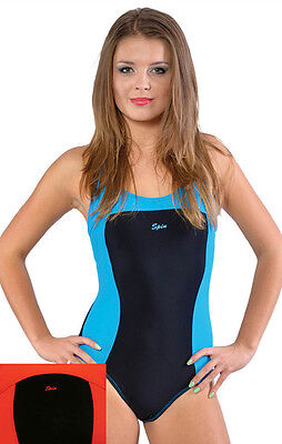 SPIN einteiliger sportlicher Damen Badeanzug Schwimmanzug Badekostüm 118K