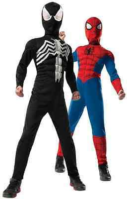 Ultimate Spider-Man Reversible Marvel Superhero Black Halloween Child - Halloween Ultimate Costumes
